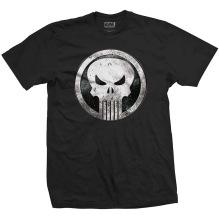 The Punisher Metal Badge Unisex T-shirt (black)