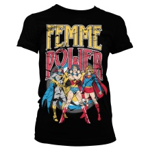DC Comics: Femme Power Girly Tee (black)