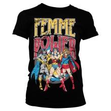 DC Comics: Femme Power Girly Tee (black)