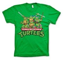TEENAGE MUTANT NINJA TURTLES: Distressed Group Unisex T-Shirt (Green)