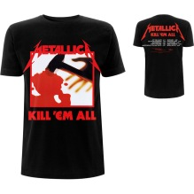 METALLICA: Kill 'Em All  Tracks (Back Print) Unisex T-shirt (black)