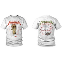 METALLICA: One Landmine (Back Print) Unisex T-shirt (white)
