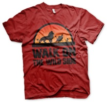 The Lion King: Walk On The Wild Side Unisex T-Shirt (tango red)