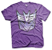 TRANSFORMERS: Distressed Decepticon Shield T-Shirt (Purple)