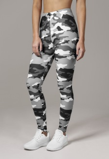 URBAN CLASSICS Camo Leggings - snow camo