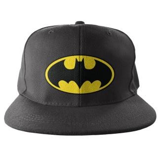 Batman Signal Logo Embroidered Snapback Cap
