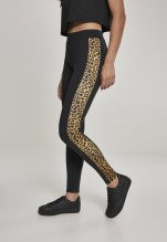 URBAN CLASSICS Side Striped Pattern Leggings - black/leo