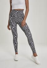 URBAN CLASSICS Ladies AOP High Waist Leggings - grey leo
