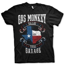 Gas Monkey Garage - Texas Flag Unisex T-Shirt (Black) (L)