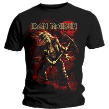 Iron Maiden: Benjamin Breeg Red Graphic Unisex T-shirt - black