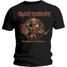 Iron Maiden: Book of Souls Eddie Circle Unisex T-shirt (black) (S,M)