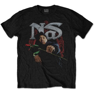 Nas: Red Rose Unisex Tee (black)