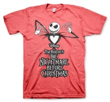 Tim Burton's The Nightmare Before Christmas T-Shirt (red heather)