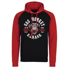 Gas Monkey Garage - Round Seal Baseball Hoodie (black/red)