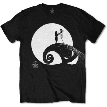 Tim Burton's The Nightmare Before Christmas Moon T-Shirt (black) (S)