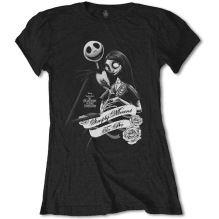 Tim Burton's The Nightmare Before Christmas: Simply Meant To Be Girly Tee (black) (S)