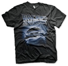 BACK TO THE FUTURE - Flying Delorean Unisex T-Shirt (Black)