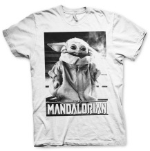 STAR WARS - Mandalorian Baby Yoda Photo Unisex T-Shirt (white)