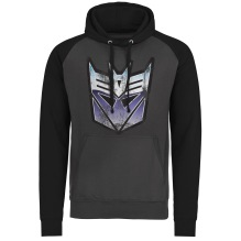 TRANSFORMERS - Distressed Decepticon Shield Baseball Hoodie (DarkGrey/Black)