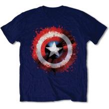 MARVEL: Captain America Splat Shield Unisex T-shirt (navy)