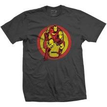 MARVEL: Iron Man Dual Unisex T-shirt (charcoal)