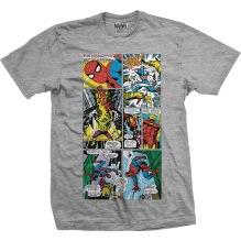 MARVEL: Marvel Panels Unisex T-shirt (h.grey) (L, XL)