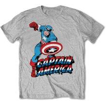MARVEL: Simple Captain America Unisex T-shirt (h.grey)