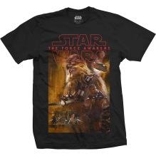 STAR WARS: Episode VII Chewbacca Composition Unisex T-shirt (black)