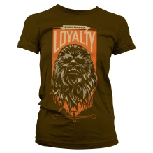 STAR WARS: Chewbacca Loyalty Girly Tee (Brown)