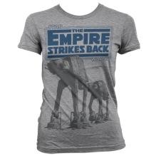 STAR WARS: Empire Strikes Back AT-AT Girly Tee (H.Grey)