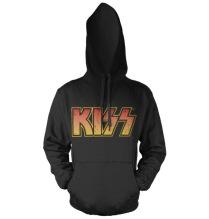 KISS: Distressed Logotype Hoodie (Black)
