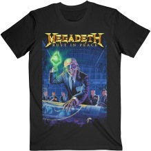 MEGADETH: Rust In Peace 30th Anniversary (Back Print) Unisex T-shirt (black) (S)