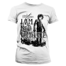 Edward Scissorhands: I Am Not Complete Girly Tee (white)