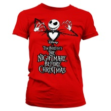 Tim Burton´s The Nightmare Before Christmas Girly Tee (red)