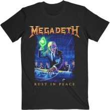 MEGADETH: Rust In Peace Track List (Back Print) Unisex T-shirt (black)