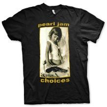 PEARL JAM: Choices (Back Print) Unisex T-shirt (black)