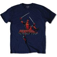 MARVEL: Deadpool Logo Jump Unisex T-shirt (navy)