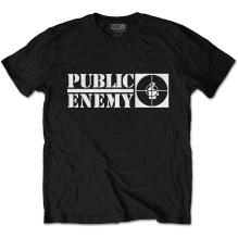 PUBLIC ENEMY: Crosshairs Logo T-shirt (black)