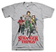 Stranger Things: Bikes Unisex T-Shirt (H. Grey)