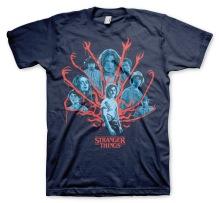 Stranger Things: Group Unisex T-Shirt (Navy)