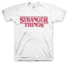 Stranger Things: Logo Unisex T-Shirt (White)