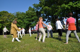Här lär vi oss om qi-kraften, läger i Polen sommaren 2013.