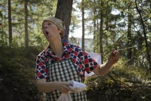 Sagan om de tre önskningarna i Händelseriket, utanför Astrid Lindgrens Barnsjukhus i Huddinge