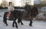 Henny & Wera och Ambra & Ebba på ridtur