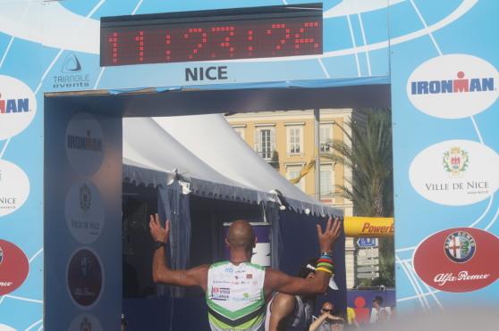 Lars målgång Ironman - Nice
