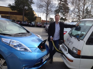 Månadens elbil april - Per Ribbings Nissan LEAF