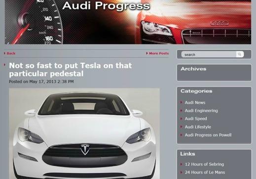 Börjar Audi bli rädda för konkurrens?