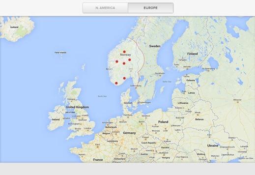 Europeiska Superchargers nu på Teslas hemsida