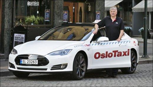 Oslo Taxi, först med Tesla