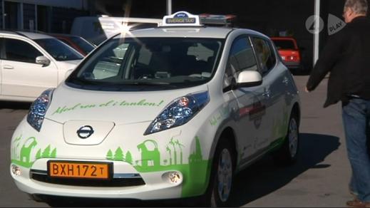 Nissan Leaf som taxi